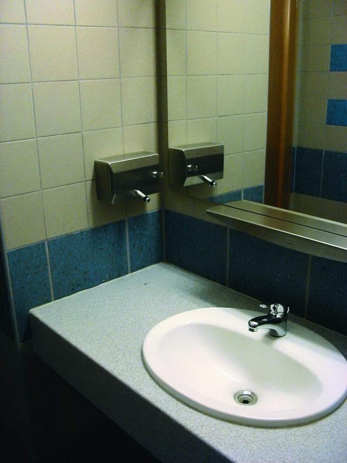 WC előtér részlet