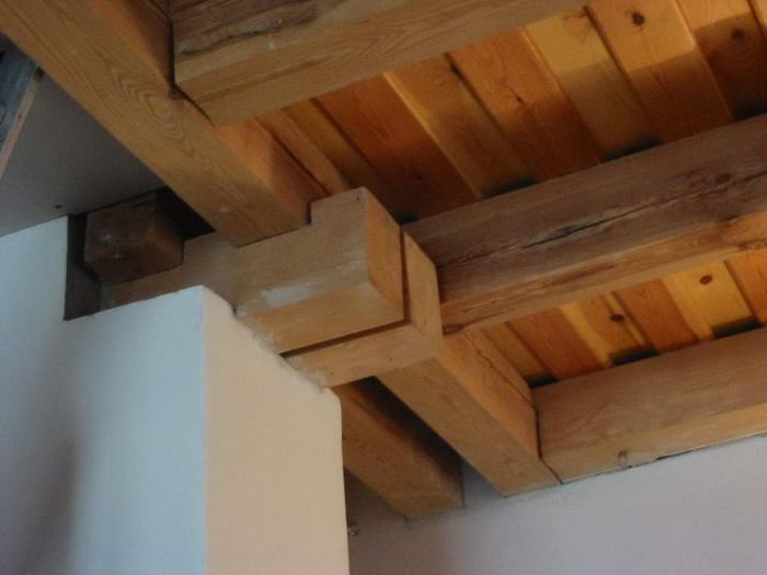 Fafödém részlet a lépcsőnél